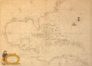 Pascaerte van West Indien Van de Caribes tot aen de Golfo van Mexico 't Amsterdam By Theunis ...