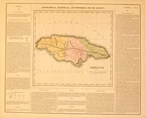 Geographical, Statistical, and Historical Map of Jamaica.: P. E. Hamm