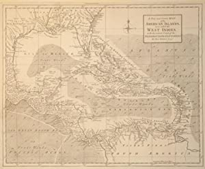 A New and Correct Map of the American Islands, now called the West Indies, with the whole Coast of ...