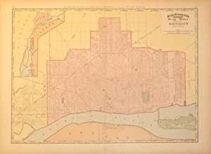 Rand, McNally & Co's Indexed Atlas of the World Map of Detroit and Vicinity. (Michigan): ...
