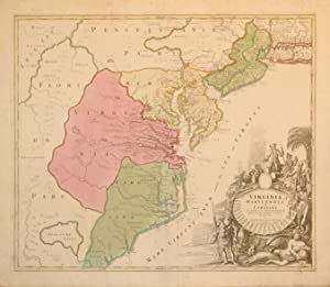 Virginia Marylandia et Carolina in America Septentrionali Britannorum industria excultx ...