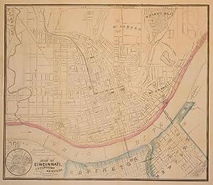 Map of Cincinnati, Covington and Newport. (Ohio): E. Mendenhall