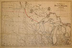 Map showing the Route of the Duluth & Winnipeg Railroad And Its Connections. Prepared by C.W. &...