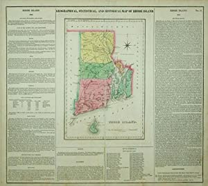 Geographical, Statistical, and Historical Map of Rhode Island.: J. Yeager