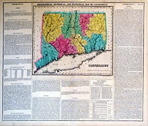 Geographical, Historical, and Statistical Map of Connecticut.: Young & Delleker