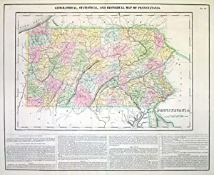 Geographical, Statistical and Historical Map of Pennsylvania: J. Yeager