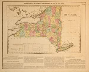 Geographical, Statistical, and Historical Map of New York: J. Yeager