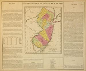 Geographical, Historical, and Statistical Map of New Jersey.: William Kneass