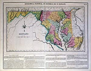 Geographical, Statistical, and Historical Map of Maryland: Boyd