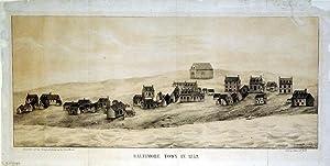 Baltimore Town in 1752.: A. Hoen