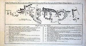 Plan de la Bataille de Montmouth ou le Gl. Washington Commandait l'Armee Americaine Et le Gl. ...