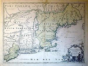 Nova Anglia Septentrionali Americae implantata Anglorumique coloniis florentissima: Johann Baptiste...