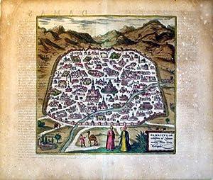 Damascus, urbs nobilissima ad Libanum montem, Totius Syriae Metropolis (Damascus/Syria): Georg...