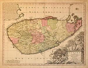 Ceylon olim Taprobana incolis Tenarisin et LeKawn dicta maxima et simid ditussima Maris Indici ...