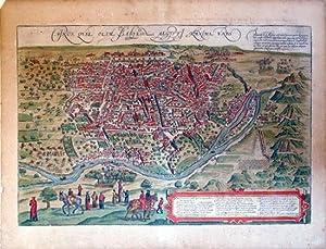 Cairus, Quae Olim Babylon; Aegypt Maxima Urbs (Cairo/Egpt): Georg Braun & Frans Hogenberg