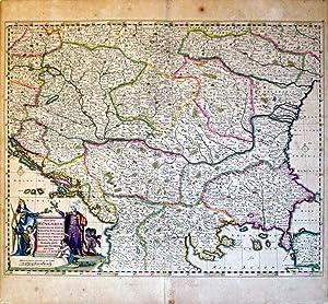 Nova totius Hungariae, Transilvaniae, Serviae, Romaniae, Bulgariae, Walachlae, Moldaviae. (Hungary&...