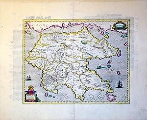 Morea olim Peloponnesus (Greece): Mercator-Hondius