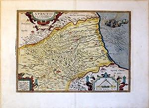 Aprutii Ulterioris Descripto. 1590. (Italy/Abruzzo): Abraham Ortelius