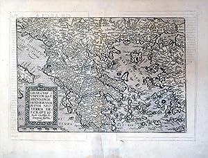 Graeciae Universae Secundum Hodiernum Situm Neoterica Descriptio. Jacobo Castaldo Pedemontano ...