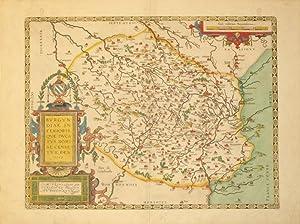 Burgundiae Inferioris Quae Ducatus Nomine Censetur, Des. 1584. (Burgundy/France): Abraham ...