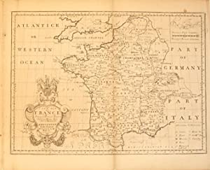 A New Map of France Shewing its Principal Divisions Cheif Cities, Townes, Ports, Rivers, Mountains ...
