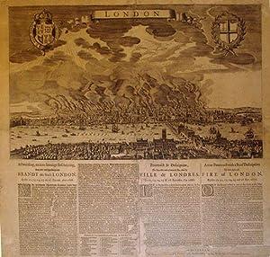 A True Pourtrait with a Brief Description of that deplorable Fire of London, Befallen the 12, 13, ...