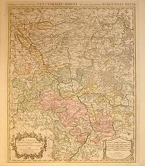 Tabula Nova Circuli Electoralis, Rheni, ad Usum Serenisfimi Burgundiae Ducis./Le Cercle ...