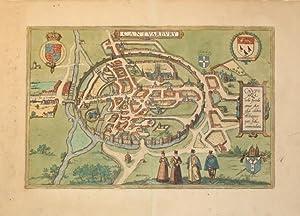 Cantuarbury (Canterbury/England): Georg Braun & Frans Hogenberg