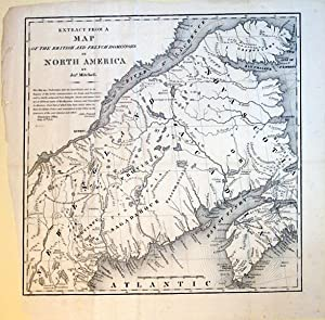 Extract from a Map of the British and French Dominions in North America.(Canada): John Mitchell