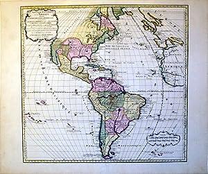 Le Nouveau Continent ou l'Amerique Divisee en Septentrionale et Meridionale ou l'on ...