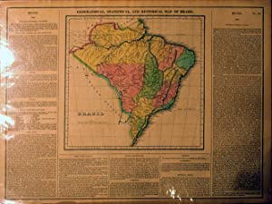 Geographical, Statistical, and Historical Map of Brazil: Young & Delleker