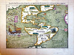 La table des Isles neufues, lesquelles on appelle isles d'occident & d'Indie pour ...