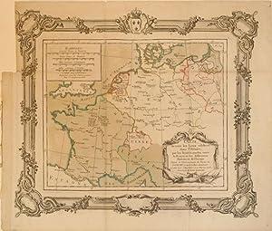 Carte de tous les Lieux celebres dans l'Histoire, par les Traites conclus, entre la France et ...