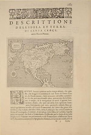 Descrittione Dell'Isola Et Terra Di Santa Croce overo Mondo Nuovo (North America): Tomaso ...