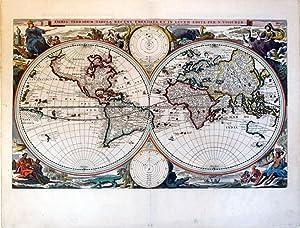 Orbis Terrarum Tabula Recens Emendata Et In Lucem Edita Per N. Visscher. (World): Nicholas Visscher