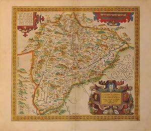 Salisburgensis Iurisdictionis. (Germany/Austria/Salzburg/Bavaria): Abraham Ortelius
