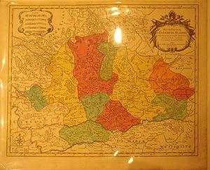 Haute Partie de l'Evesche de Munster subdivise en ses principales Juridictions. (Germany): ...