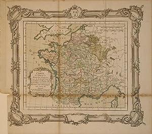 Carte de l'Etat de la Monarchie Francoise vers la fin du XVe. Siecle et du Regne de Charles ...