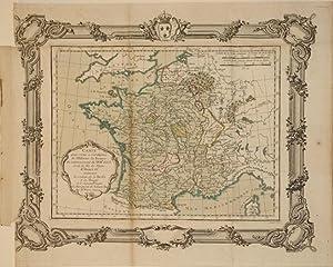 Carte pour servir a l'intelligence de l'Histoire de France du commencement du XVIIe. ...
