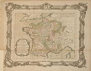 Tableau de la France sous les 4. Iers. Rois de la 3e Race. Hugues-Capet, Robert, Henri, et Philippe...