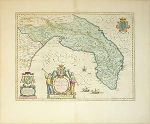 Terra di Otranto olim Salentina et Iapigia (Italy/Gulf of Taranto/Adriatic Sea): J. Blaeu