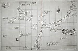 Carta particolare della Barberia Occidentale che cominicia con il capo. (Africa/Canary Islands...