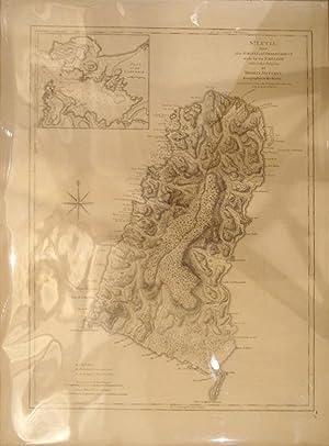 Carte de l'Isle de la Martinque Colonie Francoise de l'une des Isles Antilles de l'...