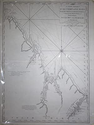 A New Chart of the Coast of Guayana From Rio Orinoco to River Berbice, Containing the Dutch ...