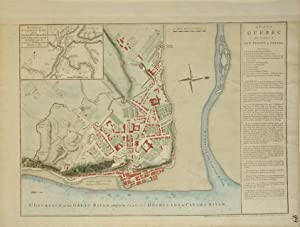 A Plan of Quebec The Capital of New France or Canada: Thomas Jefferys