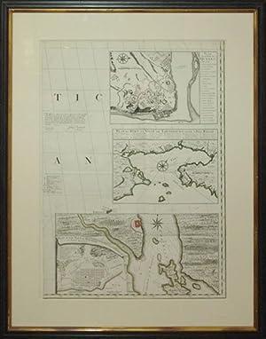 Plan de la Ville de Quebec/Plan du Port et Ville de Louisbourg dans l'Isle Royale/...