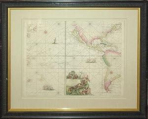 Pascaert vande Zuyd Zee (Pacific Ocean/The Americas): Johannes Van Keulen