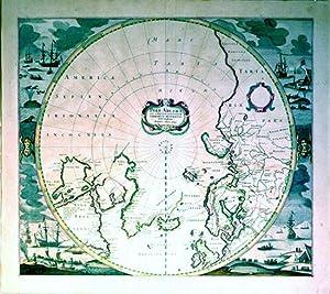 Poli Arctici et circumiacentium Terrarum Descriptio Novissima. (North Pole): Hondius