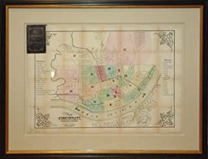 Map of Cincinnati, Covington & Newport (Ohio): B. Oertly