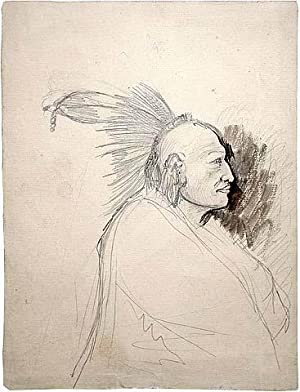Massika (study for Tableaux #3 of Travels in the Interior of North America): Karl Bodmer